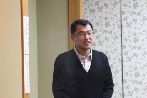 2013年の墨東アブロードの成績報告する木島理事
