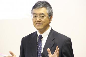 ゴム工業会の展望で講演する加藤社長